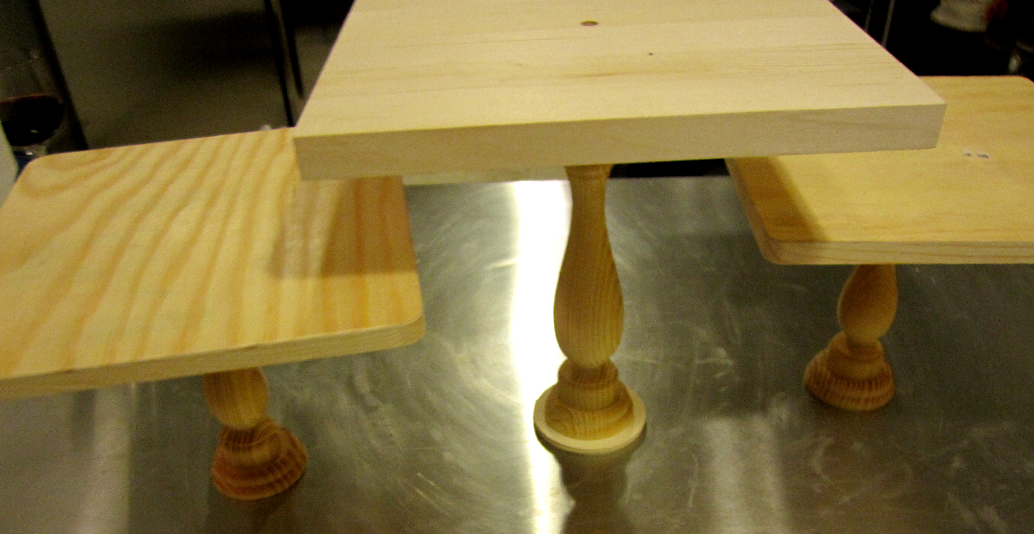 DIY Wooden Square Cake Stands