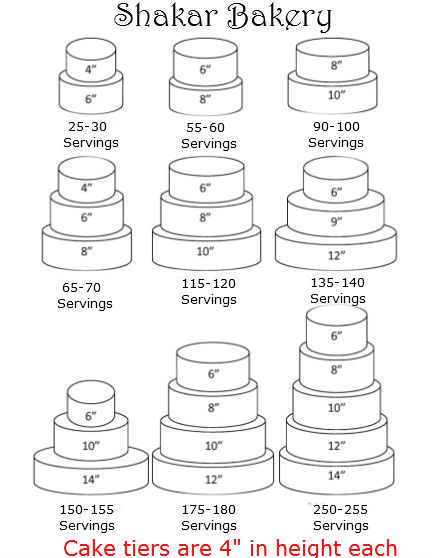 how to cut a 3 tier square wedding cake the cake servings shakar bakery 15613